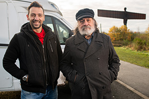 Ricky & Ralf's Very Northern Road Trip. Image shows from L to R: Ralf Little, Ricky Tomlinson. Copyright: North One Television.