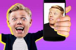 Rob Beckett's Savage Socials. Rob Beckett. Copyright: Thames.