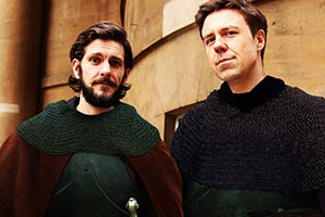 Rosencrantz And Guildenstern Are Dead. Image shows from L to R: Rosencrantz (Mathew Baynton), Guildenstern (Andrew Buchan).
