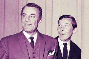 Round The Horne. Image shows from L to R: Hugh Paddick, Kenneth Williams. Copyright: BBC.