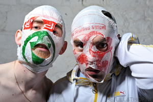 The Rubberbandits. Image shows from L to R: Bob McGlynn, Dave Chambers.