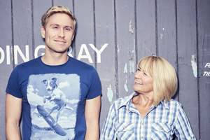Russell Howard & Mum: USA Road Trip. Image shows from L to R: Russell Howard, Ninette Howard.