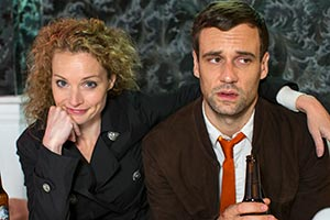 Say My Name. Image shows from L to R: Mary Page (Lisa Brenner), Statton Taylor (Nick Blood).