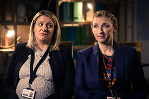 Scotland Unsolved. Image shows from L to R: DC Andrea McGill (Louise McCarthy), DC Megan Squire (Julie Wilson Nimmo). Copyright: The Comedy Unit.