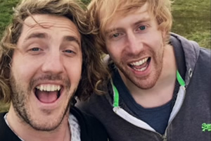 Seann Walsh: One For The Road. Image shows from L to R: Seann Walsh, Mark Simmons. Copyright: Me & You Productions.