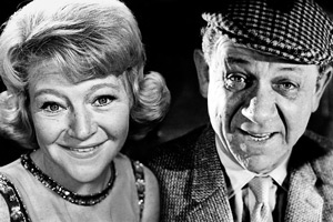 Sid And Dora. Image shows from L to R: Dora Edge (Dora Bryan), Sid Edge (Sid James). Copyright: BBC.