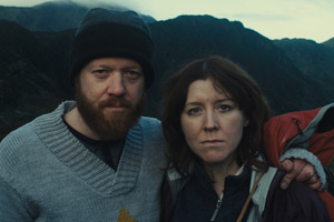 Sightseers. Image shows from L to R: Chris (Steve Oram), Tina (Alice Lowe). Copyright: Studio Canal / Big Talk Productions.