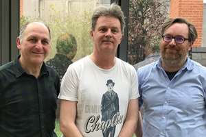 Sitcom Geeks. Image shows from L to R: Dave Cohen, Paul Merton, James Cary.