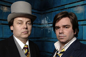 Snuff Box. Image shows from L to R: Rich Fulcher, Matt Berry. Copyright: BBC.