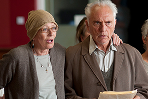Song For Marion. Image shows from L to R: Marion (Vanessa Redgrave), Arthur (Terence Stamp).