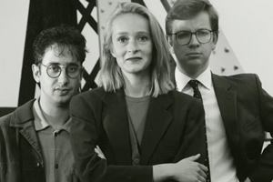 A Stab In The Dark. Image shows from L to R: David Baddiel, Tracey MacLeod, Michael Gove.