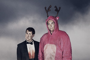 Stag. Image shows from L to R: Ian (Jim Howick), Johnners (Stephen Campbell Moore). Copyright: BBC / Idiotlamp.