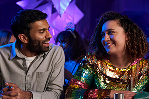 Starstruck. Image shows from L to R: Tom (Nikesh Patel), Jessie (Rose Matafeo). Copyright: Avalon Television.