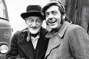 Steptoe And Son. Image shows from L to R: Albert Steptoe (Wilfrid Brambell), Harold Steptoe (Harry H. Corbett). Copyright: BBC.