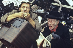 Steptoe And Son. Image shows from L to R: Harold (Harry H. Corbett), Albert (Wilfrid Brambell). Copyright: BBC.