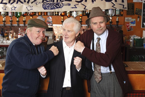 Still Game. Image shows from L to R: Jack Jarvis (Ford Kiernan), Jim Watt, Victor McDade (Greg Hemphill). Copyright: The Comedy Unit.