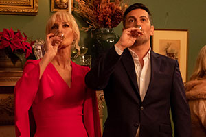 Surviving Christmas With The Relatives. Image shows from L to R: Lyla (Joely Richardson), Trent (Michael Landes).