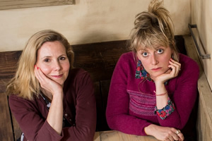 Talking To Strangers. Image shows from L to R: Sally Phillips, Lily Bevan. Copyright: BBC.