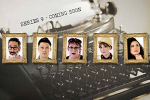 Taskmaster. Image shows from L to R: David Baddiel, Ed Gamble, Jo Brand, Katy Wix, Rose Matafeo. Copyright: Avalon Television.