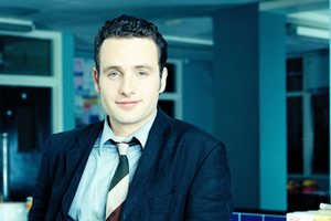 Teachers. Simon Casey (Andrew Lincoln). Copyright: Tiger Aspect Productions.