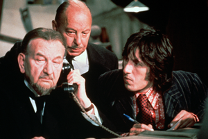 That's Your Funeral. Image shows from L to R: Emmanuel Holroyd (Raymond Huntley), Basil Bulstrode (Bill Fraser), Percy (David Battley). Copyright: Hammer Film Productions.