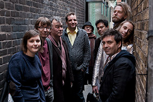 The Alternative Comedy Experience. Image shows from L to R: Josie Long, David Kay, Stewart Lee, Henning Wehn, Simon Munnery, Paul Sinha, Phil Nichol, Tony Law, Paul Foot. Copyright: Comedy Central.