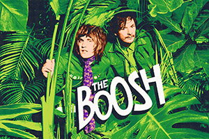 The Boosh. Image shows from L to R: Vince Noir (Noel Fielding), Howard Moon (Julian Barratt). Copyright: BBC.