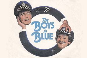 The Boys In Blue. Image shows from L to R: Sgt. Cannon (Tommy Cannon), PC Ball (Bobby Ball).