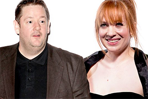 The Diary Of A Nobody. Image shows from L to R: Charles (Johnny Vegas), Carrie (Katherine Parkinson). Copyright: Woolyback Productions.
