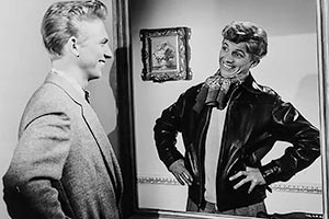 The Duke Wore Jeans. Image shows from L to R: Tony Whitecliffe (Tommy Steele), Tommy Hudson (Tommy Steele). Copyright: STUDIOCANAL.