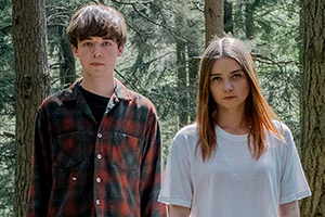 The End Of The F***ing World. Image shows from L to R: James (Alex Lawther), Alyssa (Jessica Barden). Copyright: Clerkenwell Films.
