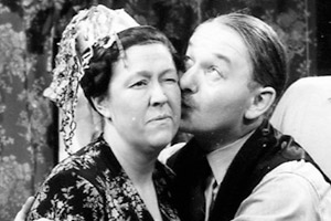 The Larkins. Image shows from L to R: Ada Larkins (Peggy Mount), Alf Larkins (David Kossoff). Copyright: Associated Television.