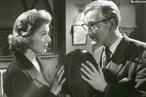 The Man Who Liked Funerals. Image shows from L to R: Stella (Susan Beaumont), Simon Hurd (Leslie Phillips). Copyright: Rank Organisation / ITV Studios.