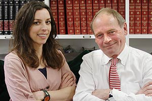 The Museum Of Curiosity. Image shows from L to R: Bridget Christie, John Lloyd. Copyright: BBC.