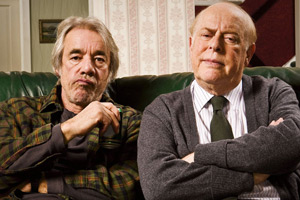 The Old Guys. Image shows from L to R: Tom (Roger Lloyd-Pack), Roy (Clive Swift). Copyright: BBC.