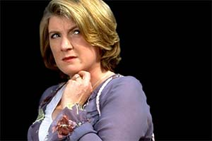 The Other Constance Chatterley. Miss Priestley (Felicity Montagu). Copyright: BBC.