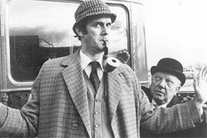 The Strange Case Of The End Of Civilisation As We Know It. Image shows from L to R: A. Sherlock-Holmes (John Cleese), Dr. W. Watson (Arthur Lowe). Copyright: London Weekend Television.