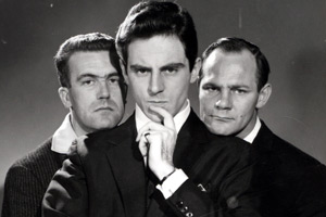 The Strange World Of Gurney Slade. Image shows from L to R: Sid Green, Gurney Slade (Anthony Newley), Dick Hills. Copyright: Associated Television.