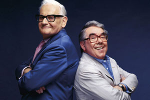 The Two Ronnies Sketchbook. Image shows from L to R: Ronnie Barker, Ronnie Corbett. Copyright: BBC.