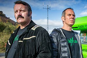 The Unexplainers. Image shows from L to R: Mike Bubbins, John Rutledge. Copyright: Zipline Creative.