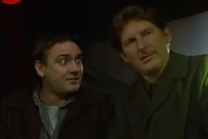 The Wedding Tackle. Image shows from L to R: Ted (Tony Slattery), Mack (Adrian Dunbar).