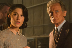 Their Finest. Image shows from L to R: Catrin Cole (Gemma Arterton), Ambrose Hilliard/Uncle Frank (Bill Nighy). Copyright: Lions Gate.
