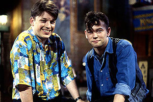This Morning With Richard Not Judy. Image shows from L to R: Richard Herring, Stewart Lee. Copyright: Avalon Television.