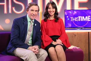 This Time With Alan Partridge. Image shows from L to R: Alan Partridge (Steve Coogan), Jennie Gresham (Susannah Fielding). Copyright: Baby Cow Productions.