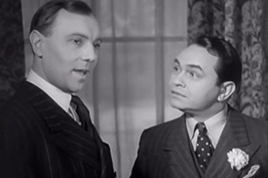 Thunder In The City. Image shows from L to R: Manningdale (Ralph Richardson), Daniel Armstrong (Edward G. Robinson).