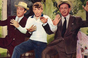 Tommy The Toreador. Image shows from L to R: Paco (Bernard Cribbins), Tommy Tomkins (Tommy Steele), Cadena (Sid James).