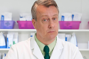 Trollied. Brian (Stephen Tompkinson). Copyright: Roughcut Television.