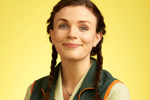 Trollied. Charlie (Aisling Bea). Copyright: Roughcut Television.