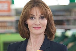 Trollied. Cheryl (Sarah Parish). Copyright: Roughcut Television.