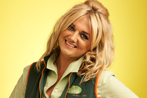Trollied. Linda (Faye McKeever). Copyright: Roughcut Television.